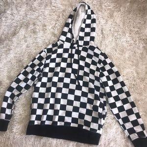 Checkered board sweatshirt